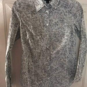 Ann Taylor Blouse 4 Petite Top Shirt EUC Floral